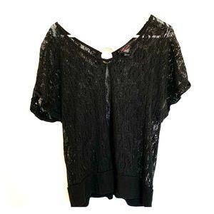 Torrid Sheer Black Lace Top. Size 1.